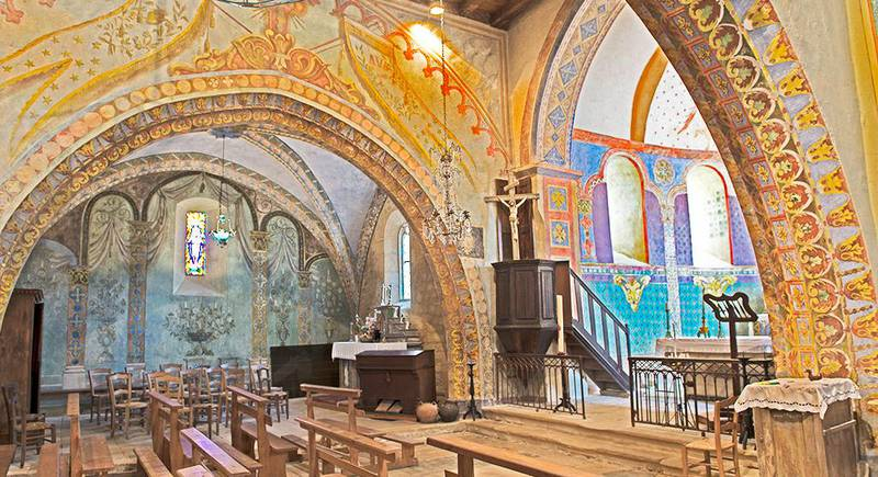 Frescos de la iglesia Saint Georges en Saint Cirq Madelon - © Jean-Marc Caron