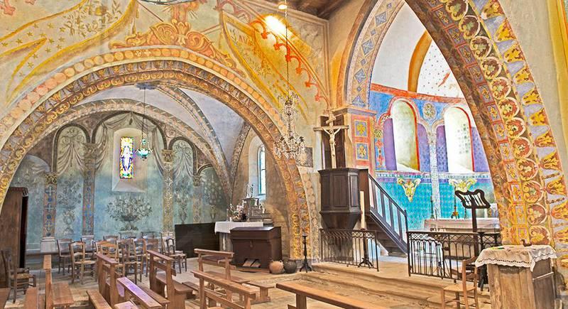 St Georges's church fesco at St Cirq Madelon - © Jean-Marc Caron