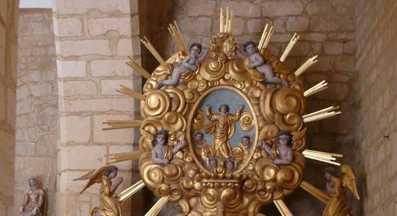 The altarpiece « Pélican » of church St Agapit de Payrignac - © Peter Potrowl
