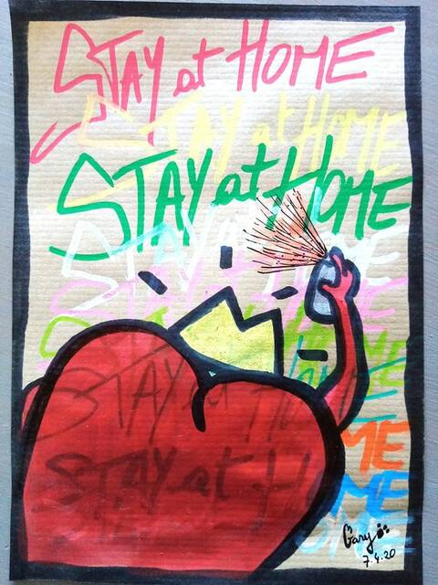 Stay at Home - Un jour confiné, un dessin